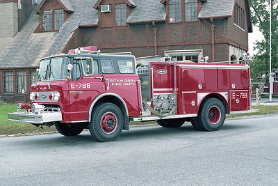 GARY FD IN  ENGINE 798  FORD C - E-ONE