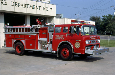 TERRE HAUTE FD IN  ENGINE 9  1979  FORD C - E-ONE   1250-1000   OFFICERS SIDE   #1019   GLENN VINCENT PHOTO