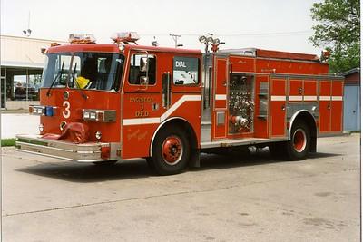 DAVENPORT  ENGINE 3  1989 SUTPHEN  1250-500  BILL FRICKER PHOTO
