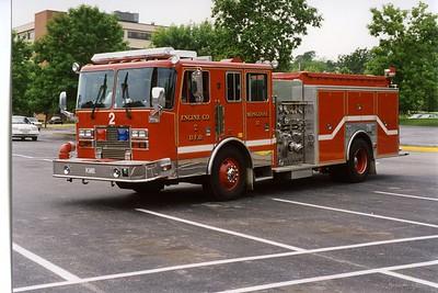 DAVENPORT  ENGINE 2  1993 KME  1250-500   BILL FRICKER PHOTO