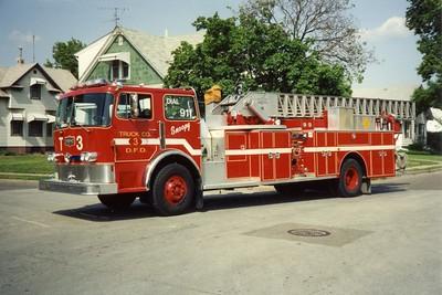 DAVENPORT  TRUCK 3  1978 PIRSCH  1000-300-85'  BILL FRICKER PHOTO