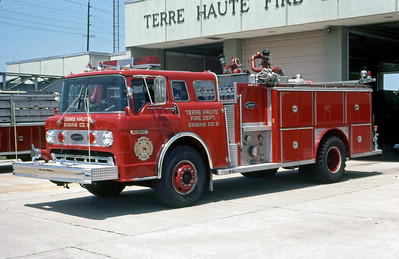 TERRE HAUTE FD IN  ENGINE 9  1984  FORD C - E-ONE   1000-500   DAVE MILLER PHOTO