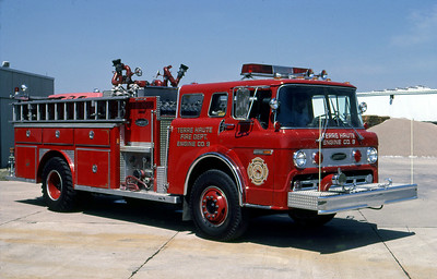 TERRE HAUTE FD IN  ENGINE 9  1979  FORD C - E-ONE   1250-1000   OFFICERS SIDE   GARY KADZ PHOTO
