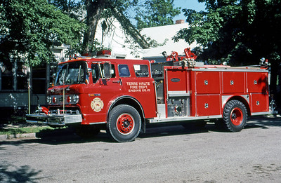 TERRE HAUTE FD IN  ENGINE 10  1984  FORD C - E-ONE   1000-500   DAVE MILLER PHOTO