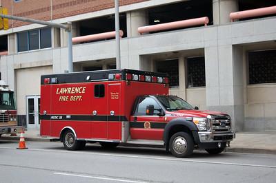 LAWRENCE  AMBULANCE 38  FORD F450 -    MATT SCHUMAN PHOTO
