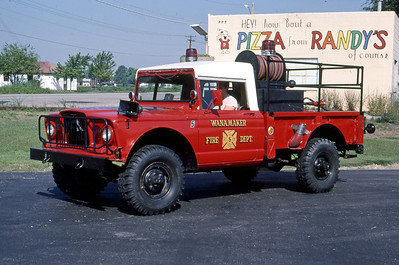 FRANKLIN TOWNSHIP FD - WANNAMAKER IN  BRUSH 5  1967  WILLYS - FD BUILT   250-250   MARK MITCHELL PHOTO