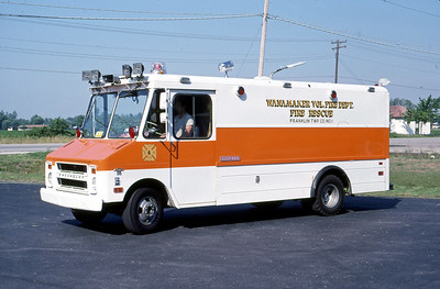 FRANKLIN TOWNSHIP FD - WANNAMAKER IN  RESCUE 6  1973  CHEVY STEPVAN   MARK MITCHELL PHOTO