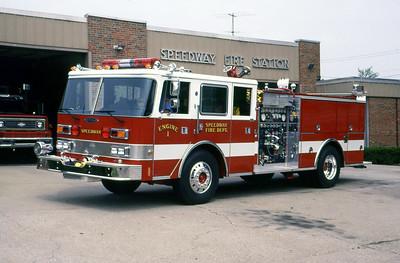 SPEEDWAY FD IN  ENGINE 1  1988  PIERCE ARROW   1250-500   MARK MITCHELL PHOTO