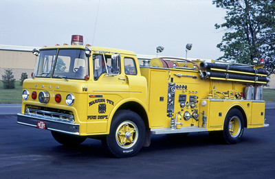 WARREN TOWNSHIP FD - INDIANAPOLIS IN  ENGINE 10  1970  FORD C - WLF - MIDWEST   1000-1000