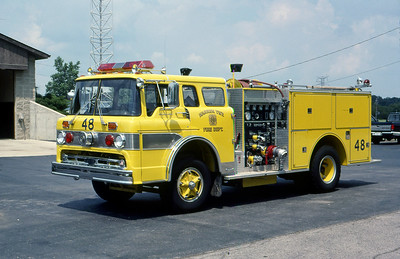 WARREN TOWNSHIP FD - INDIANAPOLIS IN  ENGINE 448  1974  FORD C - 1986  PIERCE   1000-500   MARK MITCHELL PHOTO