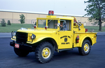 WARREN TOWNSHIP FD - INDIANAPOLIS IN  BRUSH 42  1957  DODGE 4X4 - FD BUILT   BOOSTER-150