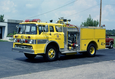 WARREN TOWNSHIP FD - INDIANAPOLIS IN  ENGINE 441  1972  FORD C - 1984  PIERCE   1000-500   MARK MITCHELL PHOTO