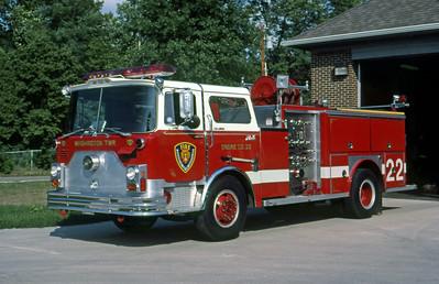 WASHINGTON TOWNSHIP FD - INDIANAPOLIS IN  ENGINE 22  1976  MACK CF - 1983  E-ONE   1250-500    MARK MITCHELL PHOTO