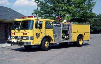 WASHINGTON TOWNSHIP FD - INDIANAPOLIS IN  ENGINE 24  1984  PIERCE ARROW   1250-500     MARK MITCHELL PHOTO