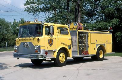 WASHINGTON TOWNSHIP FD - INDIANAPOLIS IN  ENGINE 26  1974  MACK CF - 1983  E-ONE   1000-500     MARK MITCHELL PHOTO