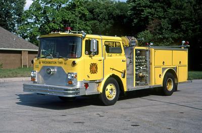 WASHINGTON TOWNSHIP FD - INDIANAPOLIS IN  ENGINE 27  1970  MACK CF - 1981  E-ONE   1250-500   MARK MITCHELL PHOTO
