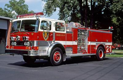 WASHINGTON TOWNSHIP FD - INDIANAPOLIS IN  ENGINE 21  1981  PEMFAB - E-ONE   1000-500    MARK MITCHELL PHOTO