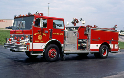 WAYNE TOWNSHIP FD - INDIANAPOLIS IN  ENGINE 11  1982  SPARTAN - 3D   1250-750