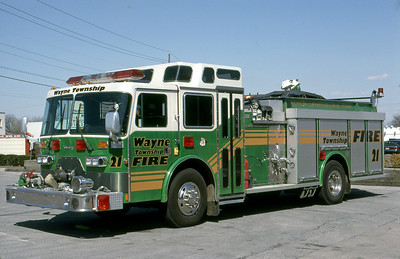 WAYNE TOWNSHIP FD - INDIANAPOLIS IN  ENGINE 21  1990  YOUNG CRUSADE II   #89-970   1500-1000-100F   LAST CUSTOM YOUNG CHASSIS
