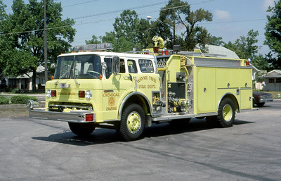 WAYNE TOWNSHIP FD - INDIANAPOLIS IN  ENGINE 21  1970  FORD C - 1987 3D   1250-750   MARK MITCHELL PHOTO
