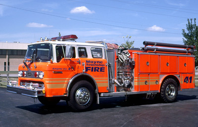 WAYNE TOWNSHIP FD - INDIANAPOLIS IN  ENGINE 41  1979  FORD C8000 - E-ONE   1000-750