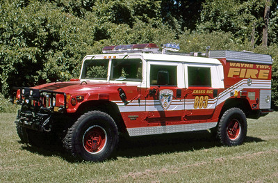 WAYNE TOWNSHIP FD - INDIANAPOLIS IN  GRASS RIG 883  1998  HUMMER - FIRE ATTACKER   250-225   GLENN VINCENT PHOTO