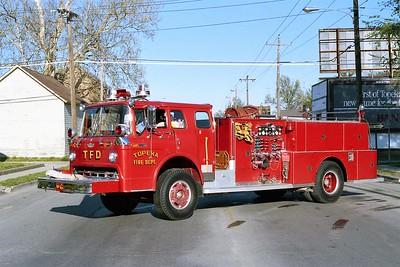 TOPEKA FD KS  ENGINE 6  1972  FORD C - AMERICAN   1000-500