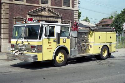 DETROIT FD  ENGINE 34  1986  SPARTAN - SUTPHEN   1250-500