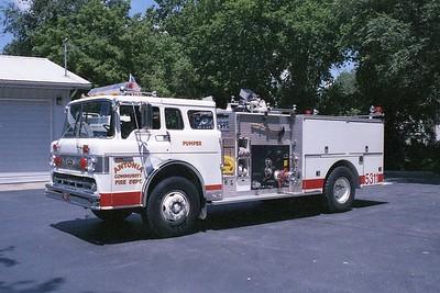 Antonia FPD MO - Engine 5311 - 1981 Ford C 800-Pierce 1000-750 E-0722 (1)