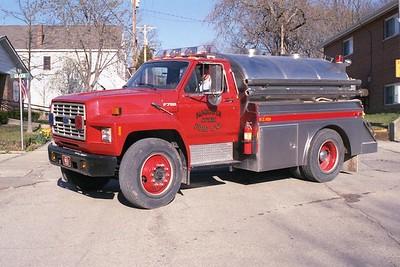 Augusta FPD MO - Tanker 8613 - 1988 Ford F 700-Semo 250-1500