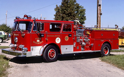 XENIA FD OH  ENGINE 1321  1972  SEAGRAVE   1250-400   REPAINTED   LEO PHOTO