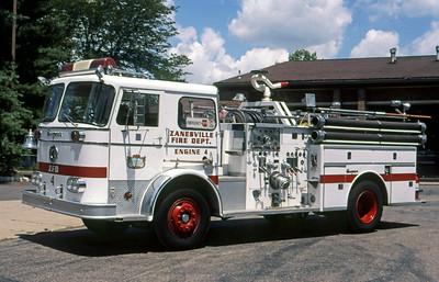 ZAINESVILLE FD OH  ENGINE 1  1969  DUPLEX - SUTPHEN   1000-500    GLENN VINCENT  PHOTO