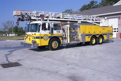 Myrtle Beach SC - Ladder 114 - 1986 Duplex-LTI 1250-375 110' Rmt #35367