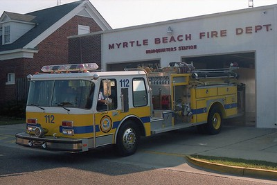 Myrtle Beach SC - Engine 112 - 1985 E One 1500-500 #3977