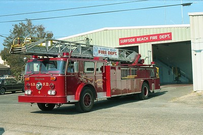 Surfside Beach SC - Ladder 4 - 1974 Seagrave 100' Rmt  D-75034 - x FDNY Ladder 27