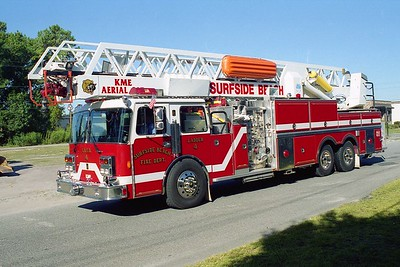 Surfside Beach SC - Ladder 4 - 1990 Pemfab-KME 1500-150 95' Rmt