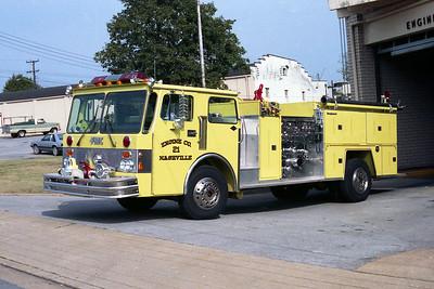 NASHVILLE FD  ENGINE 21  1982  SPARTAN - FMC   1500-750