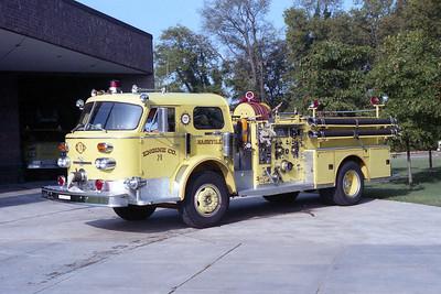 NASHVILLE FD  ENGINE 29  1973  ALF 1000   1250-500
