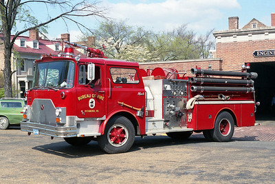 RICHMOND BUREAU OF FIRE  ENGINE 1  1973  MACK CF   1000-500
