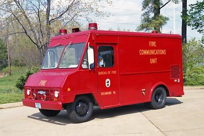 RICHMOND BUREAU OF FIRE  COMMAND 1  1969  CHEVY STEPVAN - FD BUILT