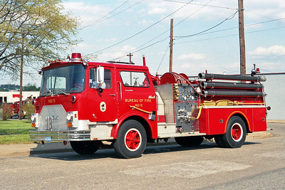 RICHMOND BUREAU OF FIRE  ENGINE 13  1973  MACK CF   1250-500