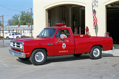 RICHMOND BUREAU OF FIRE  FUEL 1  1986  DODGE RAM - FD BUILT