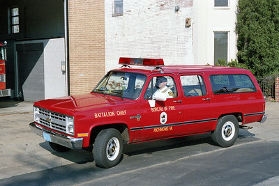 RICHMOND BUREAU OF FIRE  BATTALION 51  1987  CHEVY SUBURBAN 4X4
