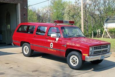 RICHMOND BUREAU OF FIRE  BATTALION 53  1987  CHEVY SUBURBAN
