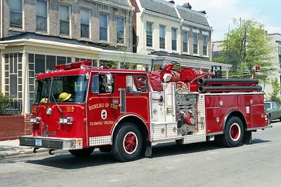 RICHMOND BUREAU OF FIRE  ENGINE 12  1985  DUPLEX - THIBAULT   1250-500