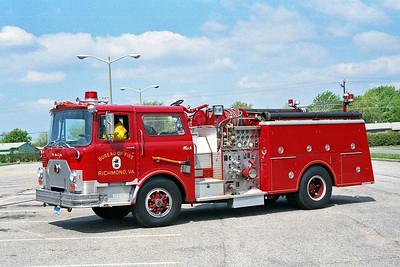 RICHMOND BUREAU OF FIRE  ENGINE 11  1982  MACK CF   1250-500