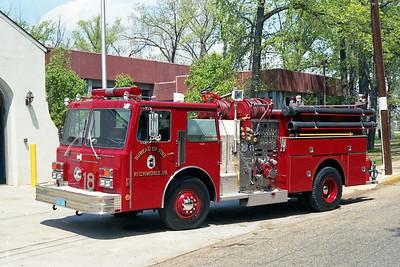 RICHMOND BUREAU OF FIRE  ENGINE 18  1987  MAXIM F   1250-500