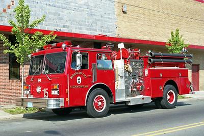 RICHMOND BUREAU OF FIRE  ENGINE 15  1987  MAXIM F   1250-500