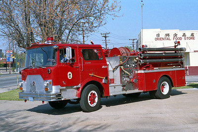 RICHMOND BUREAU OF FIRE  ENGINE 20  1973  MACK CF   1000-500