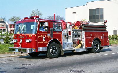 RICHMOND BUREAU OF FIRE  ENGINE 5  1986  DUPLEX - THIBAULT   1250-500